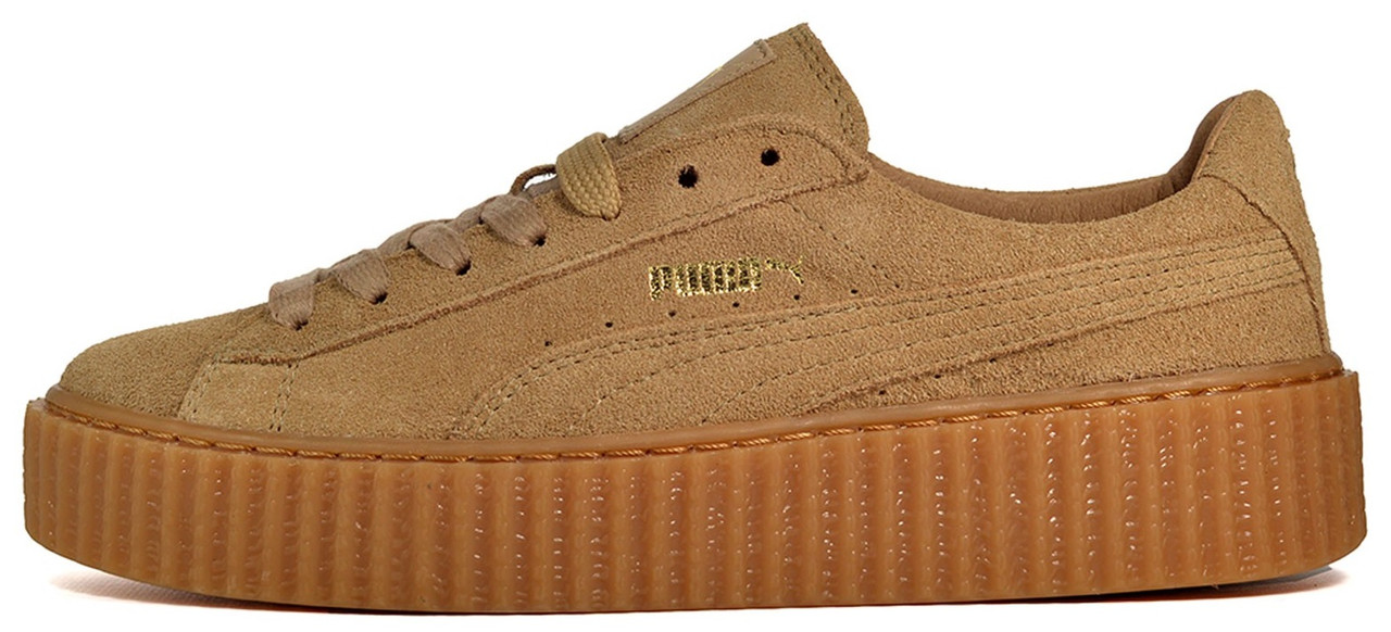 "Женские кроссовки Rihanna x Puma Suede Creeper ""Wheat"", 40"