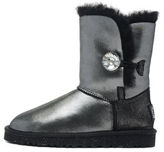 "Женские угги UGG Bailey Button I DO! ""Black"", 41"