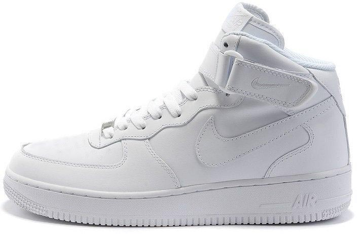 "Зимние кроссовки Nike Air Force High Winter ""White"" с мехом, 44"