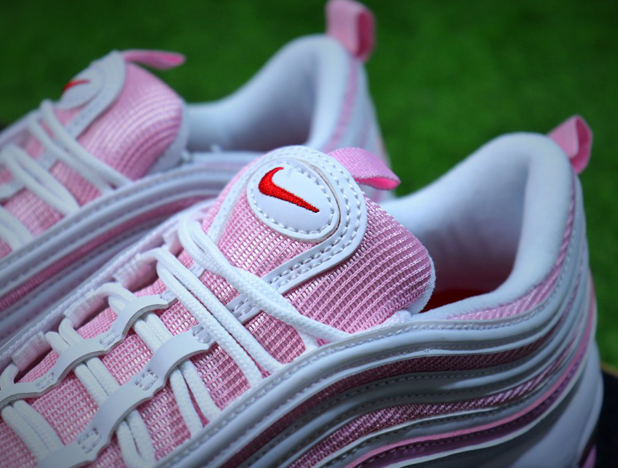 "Женские кроссовки Nike Air Max 97 GS ""White/Red-Flame-Pink"""