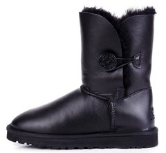 "Женские угги UGG Bailey Button Metallic ""Black"", 41"