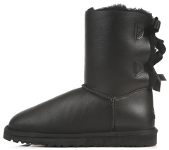 "Женские угги UGG Bailey Bow Leather ""Black"", 37"