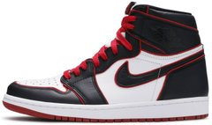 "Кроссовки Air Jordan 1 Retro High OG Bloodline ""Black/Red/White"" 555088-062, 40"