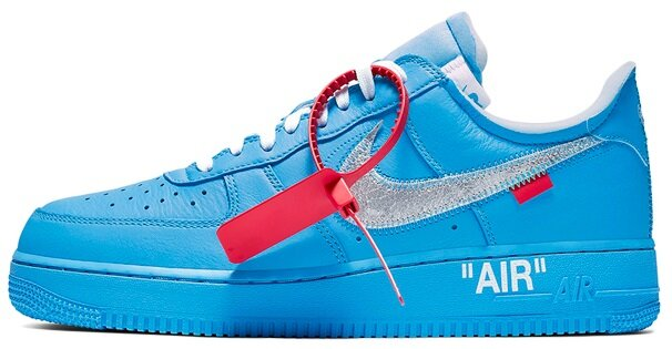 "Кроссовки OFF-WHITE x Nike Air Force x Virgil Abloh x MCA Chicago ""University Blue"" CI1173 400, 40"