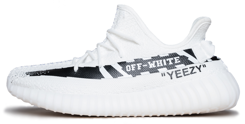 Мужские кроссовки OFF-White x adidas Yeezy Boost 350 V2 White, 45