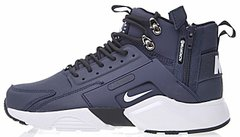"Мужские кроссовки ACRONYM х Nike Huarache City MID Leather ""Navy/White"", 41"