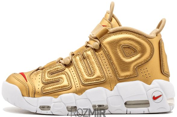 "Мужские кроссовки Supreme x Nike Air More Uptempo ""Suptempo"" Metallic Gold"