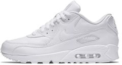 "Женские кроссовки Nike Air Max 90 Leather ""Triple White"", 41"