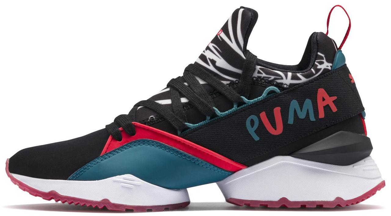e17c3487b40dcb Жіночі кросівки Puma x Shantell Martin Muse Maia Graphic Black/Spiced Coral  ...