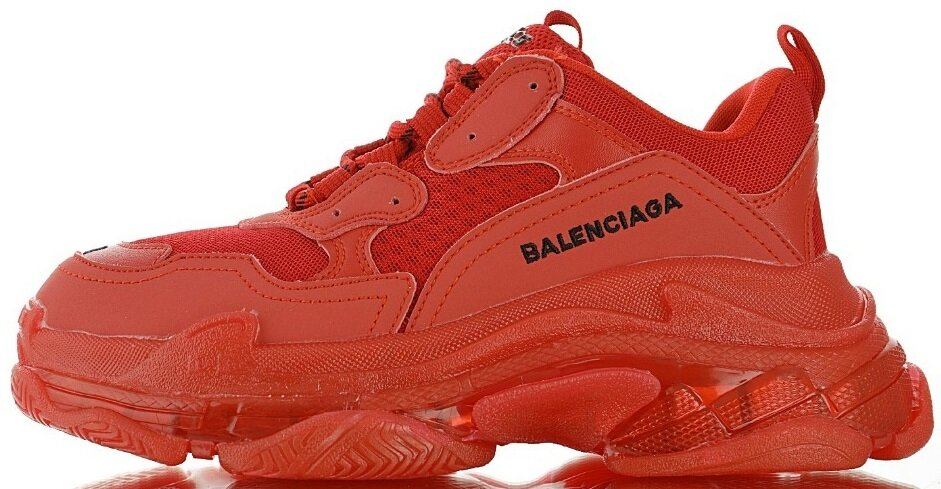 Кроссовки Balenciaga Triple S Red Clear Sole, 39