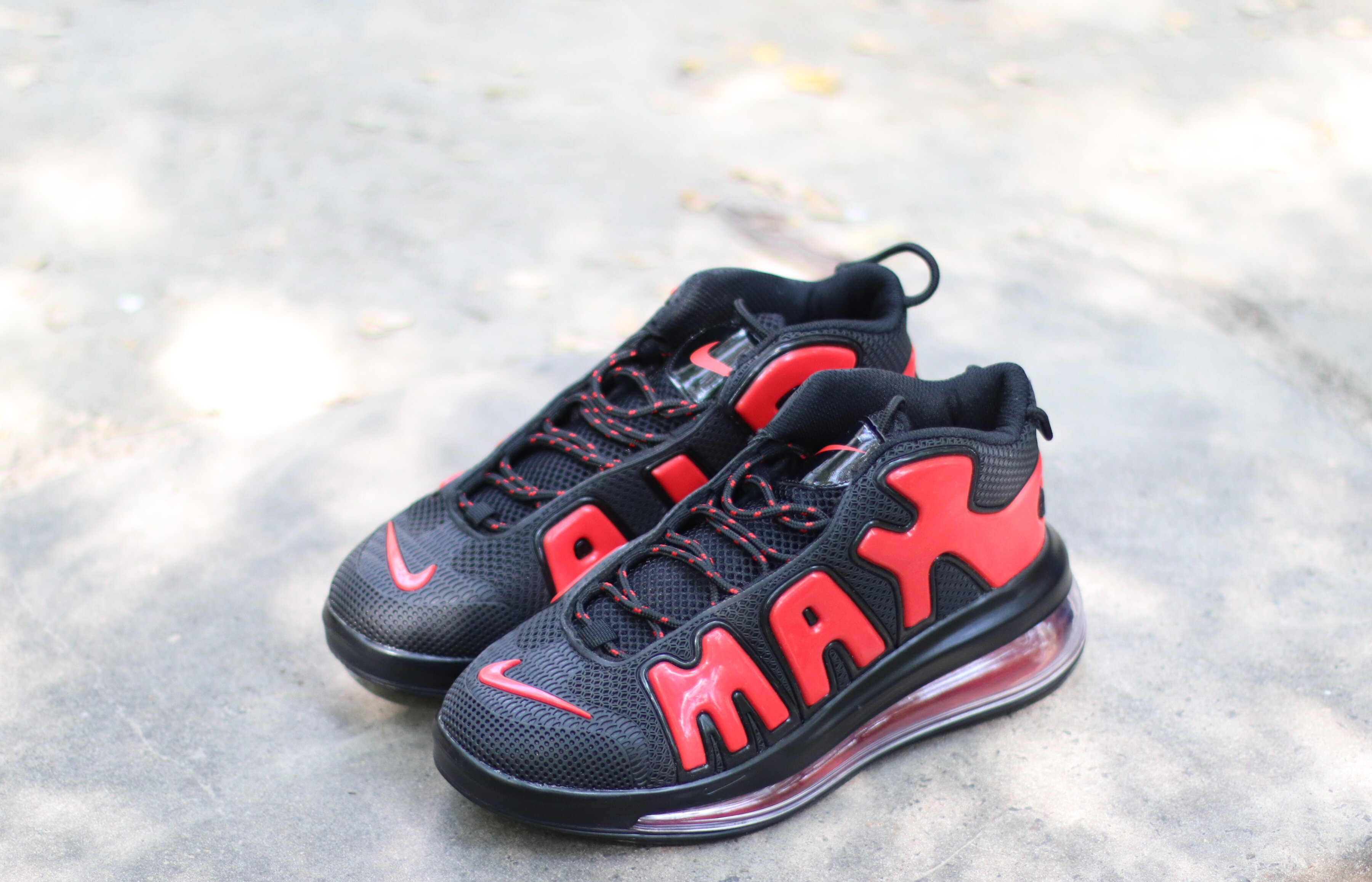 "Мужские кроссовки Nike Air More Uptempo 720 QS 2 ""Black/Red"", 45"