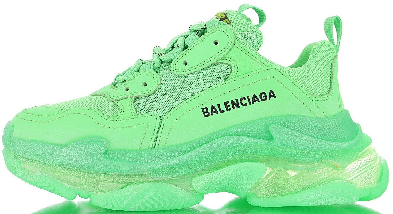 Кроссовки Balenciaga Triple S Neon Green Clear Sole