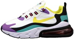 "Мужские кроссовки Nike Air Max 270 React ""White/Dynamic Yellow-Black"" AO4971-101, 42"