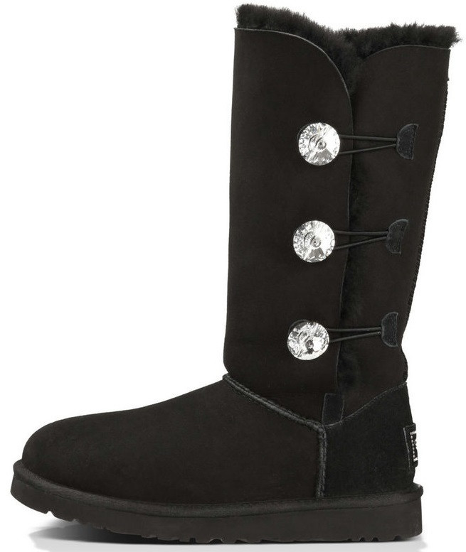 "Женские угги UGG Bailey Button Bling Triplet ""Black"", 40"