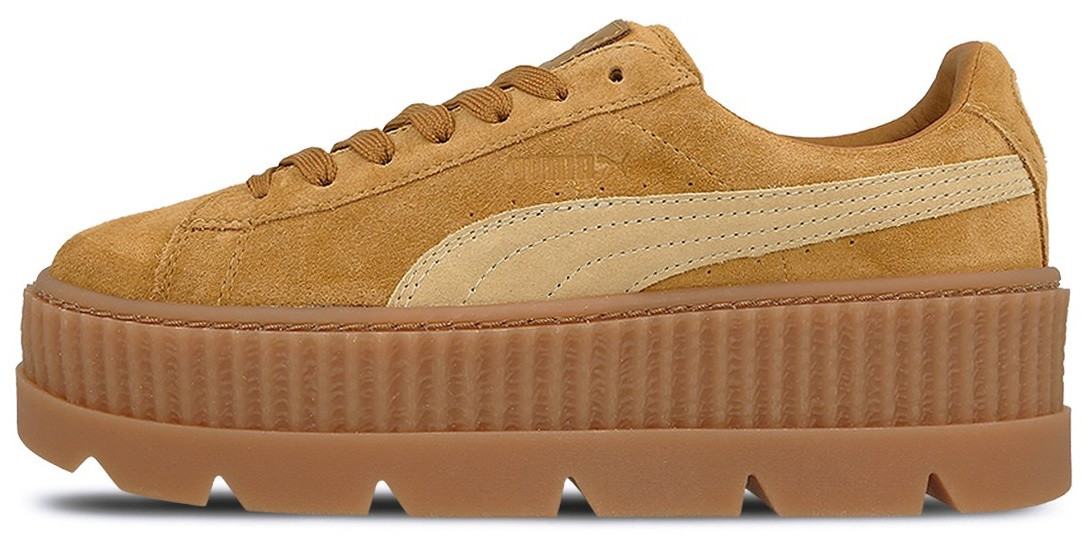 "Женские кроссовки Rihanna x Puma Fenty Suede Cleated Creeper ""Golden Brown/Lark"", 39"