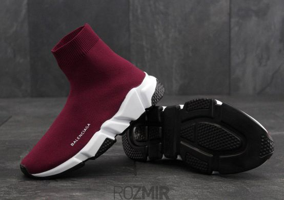 "Мужские кроссовки Balenciaga Speed Trainer ""Wine Red"""