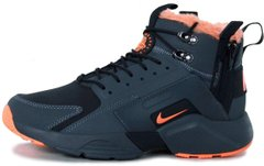 "Мужские зимние кроссовки ACRONYM x Nike Huarache City Winter ""Black/Orange"" с мехом, 45"