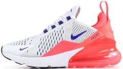 Женские кроссовки Nike Air Max 270 White / Pink / Ultramarine AH6789-101, 36