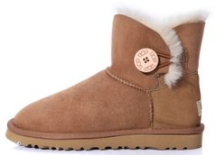 "Женские угги UGG Mini Bailey Button ""Chestnut"", 41"