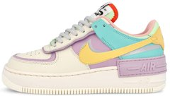 "Женские кроссовки Nike Air Force 1 Low Shadow ""Pale Ivory / Celestial Gold - Tropical Twist"" CI0919-101, 39"