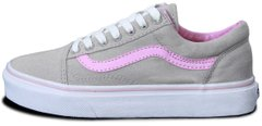 "Женские кеды Vans Old Skool ""Grey/Pink"", 40"