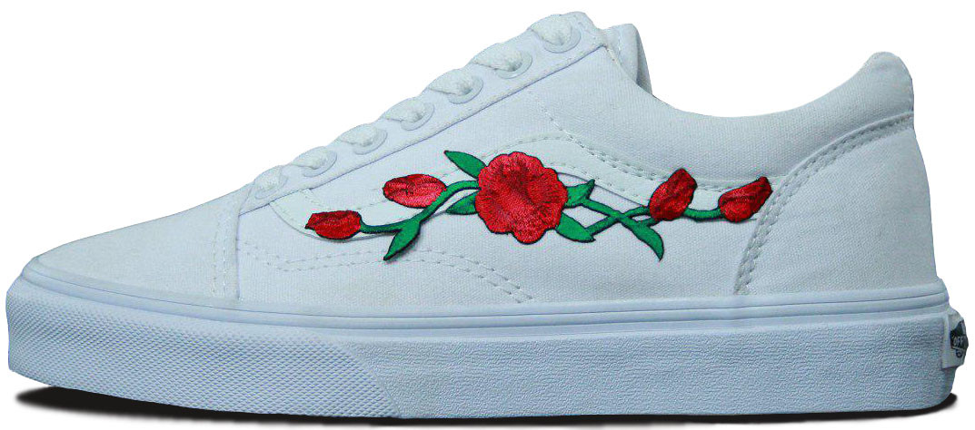 "Женские кеды Vans Old Skool Rose ""White"", 41"