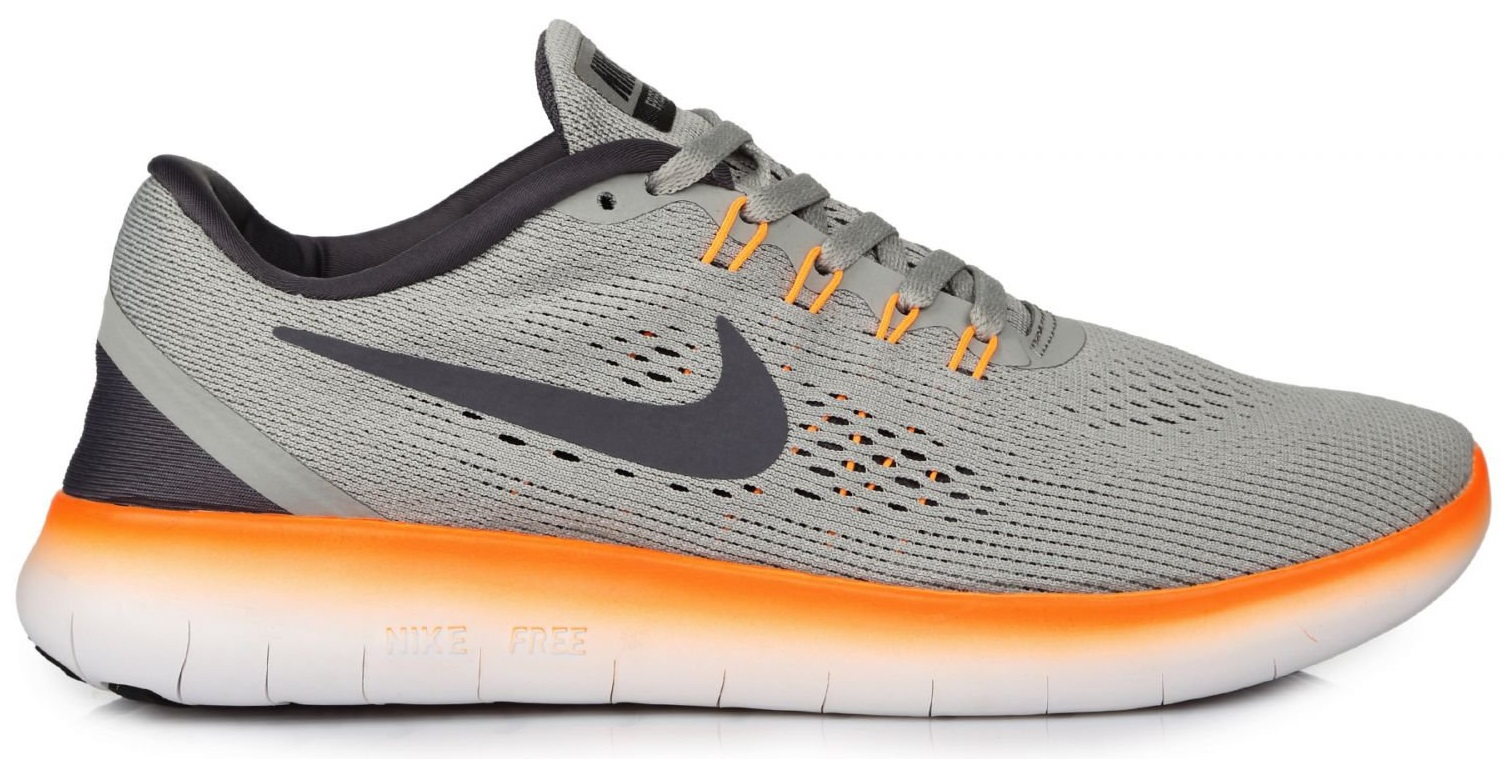 "Мужские кроссовки Nike Free Run Flyknit ""Grey/Orange"", 45"