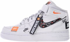 "Кроссовки Nike Air Force 1 Mid Just Do It ""White"", 40"