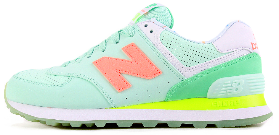 "Женские кроссовки New Balance WL574BWC ""Popsicle Apple Green Pink"", 39"