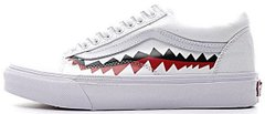 "Кеды BAPE x Vans Old Skool Shark Mouths ""White"", 44"