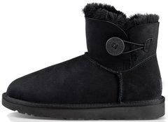 "Женские угги UGG Mini Bailey Button ""Black"", 35"