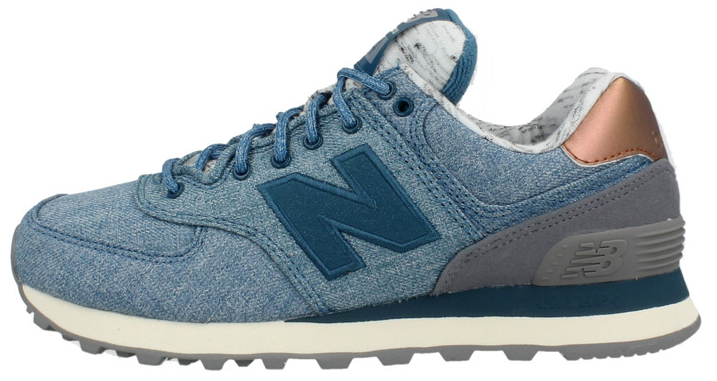 "Женские кроссовки New Balance WL574AEC Jeans ""Grey/Blue"", 39"