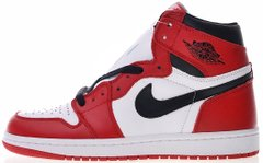 "Кроссовки Air Jordan 1 Retro High OG Chicago ""White/Black-Varsity Red"" 555088-101, 46"