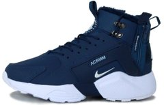 "Мужские кроссовки ACRONYM x Nike Huarache City Winter ""Navy Blue"" с мехом, 40"