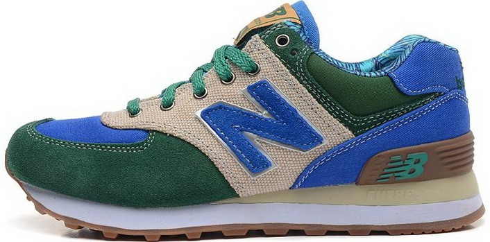 "Мужские кроссовки New Balance ML574SNY Botanical Garden ""Green/Royal Blue"", 44"
