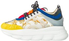 "Женские кроссовки Versace Chain Reaction ""White/Blue/Yellow "", 39"