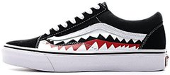 "Кеды BAPE x Vans Old Skool Shark Mouths ""Black"", 45"