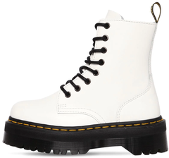 "Женские ботинки Dr. Martens Jadon Winter ""White"" с мехом, 37"